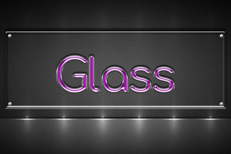 Purple Glass Text Effect