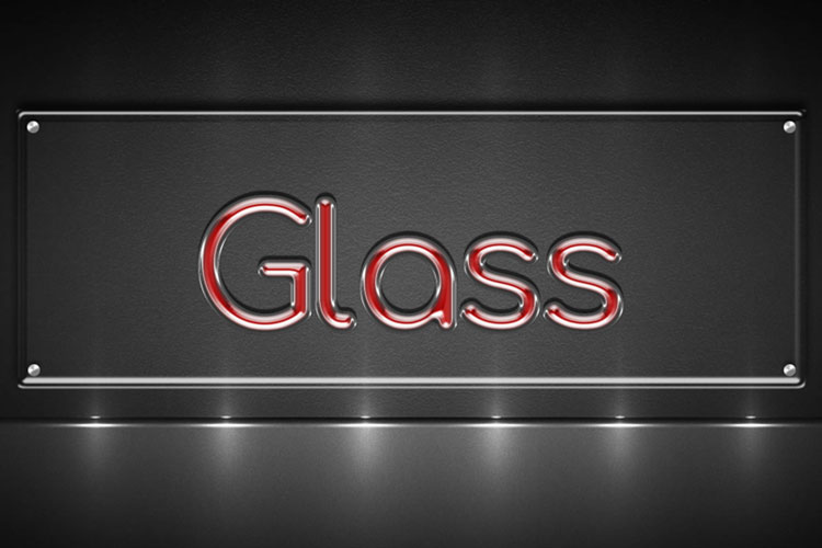 Red Glass Text Effect