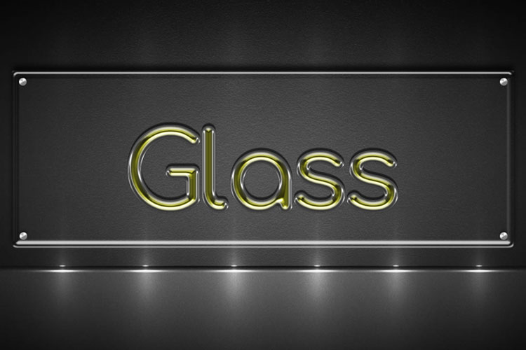 Yellow Glass Text Effect