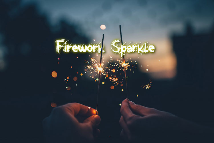 Firework Sparkle Text Effect