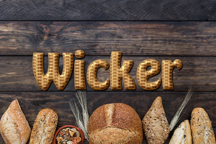 Wicker Text Effect Online