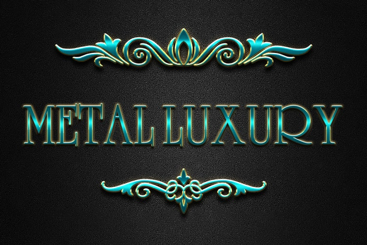 Color Full Luxury Metal Text Effect
