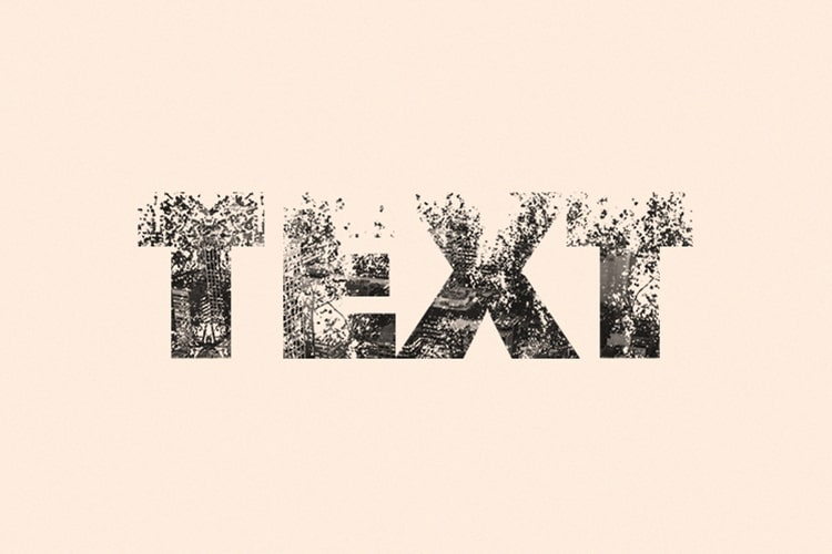 Double Exposure Text Effect Black & White