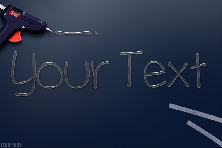 Create 3d glue text effect with realistic style