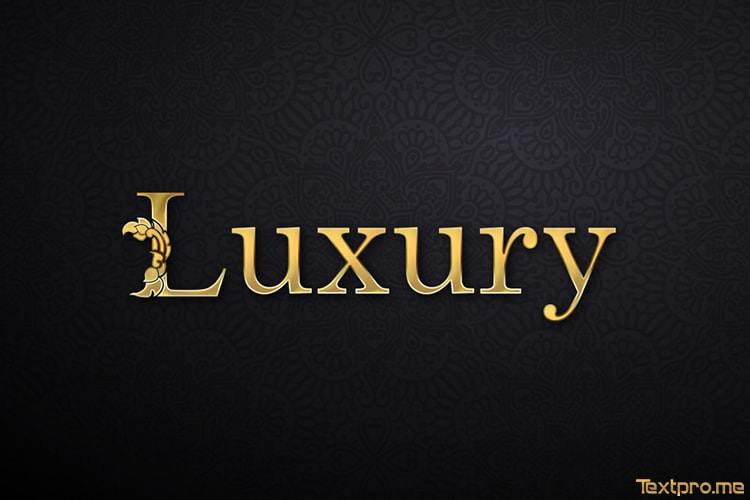 3D luxury gold text effect online